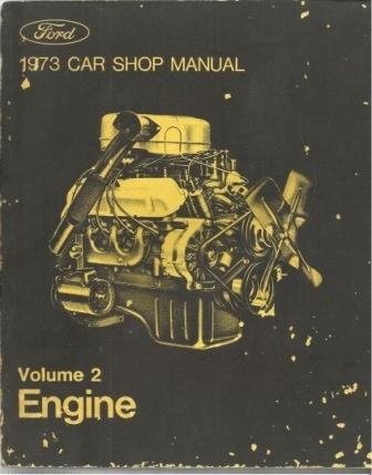 Image for 1973 Car Shop Manual: Ford Volume 2 Engine