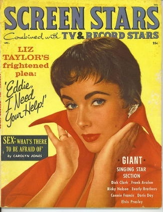 Image for Screen Stars (combined With Tv & Record Stars) , April 1959 Liz Taylor's Frightened Plea