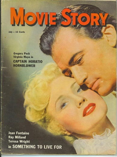 Image for Movie Story, July 1951 Gregory Peck and Virginia Mayo