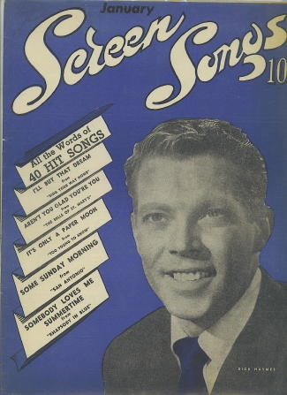 Image for Screen Songs, January 1945