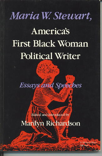 Image for Maria W. Stewart, America's First Black Woman Political Writer Essays And Speeches)