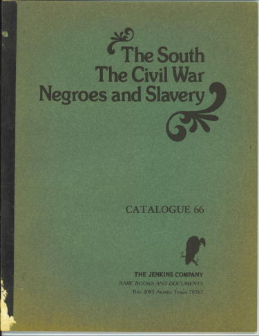Image for The South, The Civil War, Negroes And Slavery: Catalogue 66