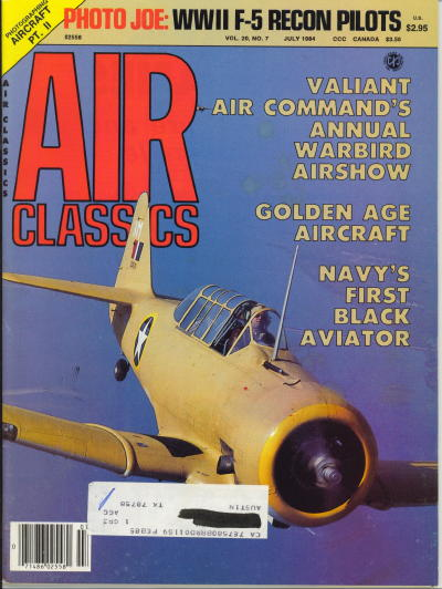 Image for Air Classics Volume 20, No. 7, July 1984