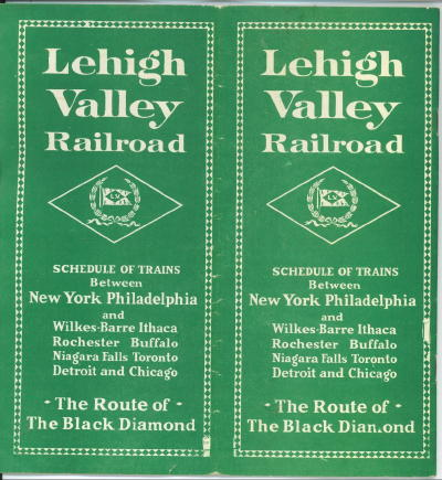 Image for Lehigh Valley Railroad Schedule Of Trains, The Route Of The Black Diamond