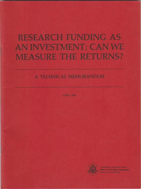 Image for Research Funding As an Investment: Can We Measure the Returns?