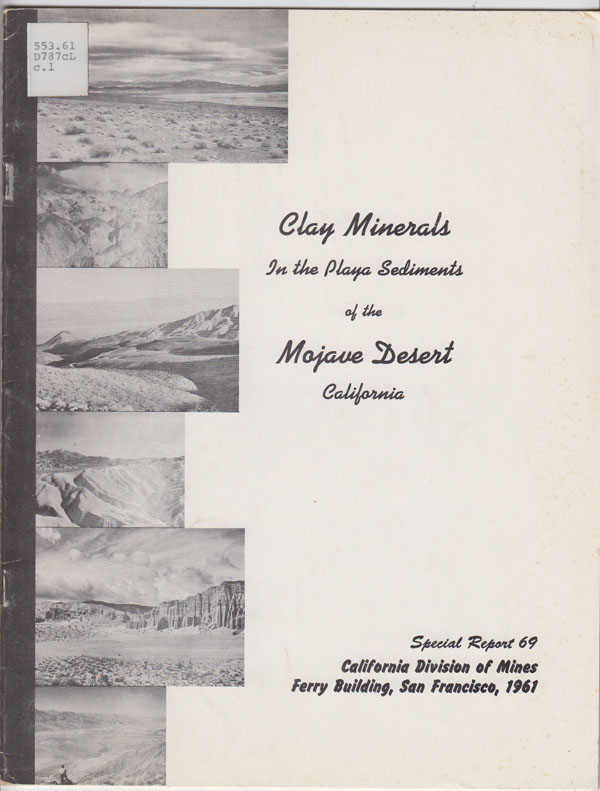 Image for Clay Minerals in the Playa Sediments of the Mojave Desert, California
