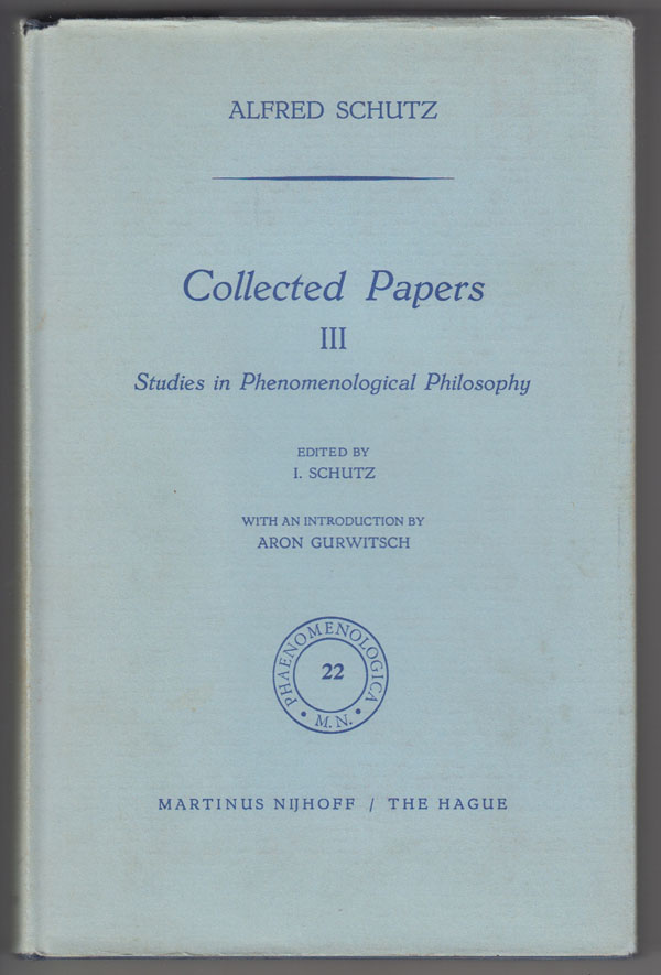 Image for Collected Papers III  Studies in Phenomenological Philosophy