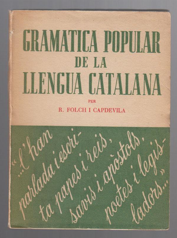 Image for Gramatica Popular De La Llengua Catalana