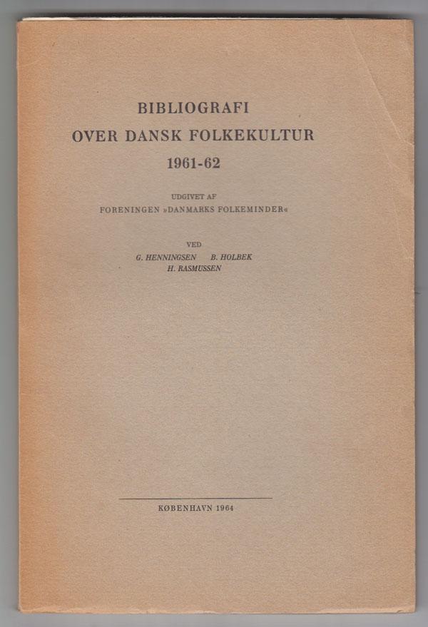 Image for Bibliografi over Dansk Folkekultur 1960, 1961-62 and 1963-64 (3 Volumes)