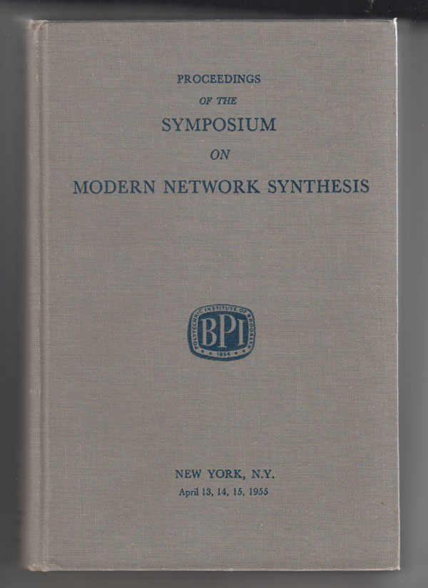 Image for Proceedings of the Symposium on Modern Network Synthesis (New York, April 13-15,1955)