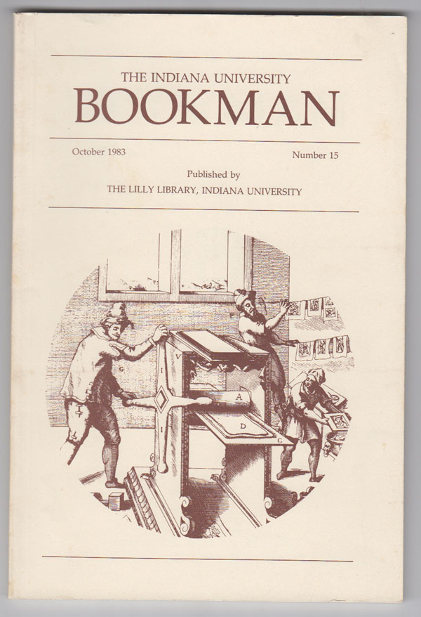 Image for Film Studies Collections in the Lilly Library, Indiana University (Indiana University Bookman, October 1983, No. 15