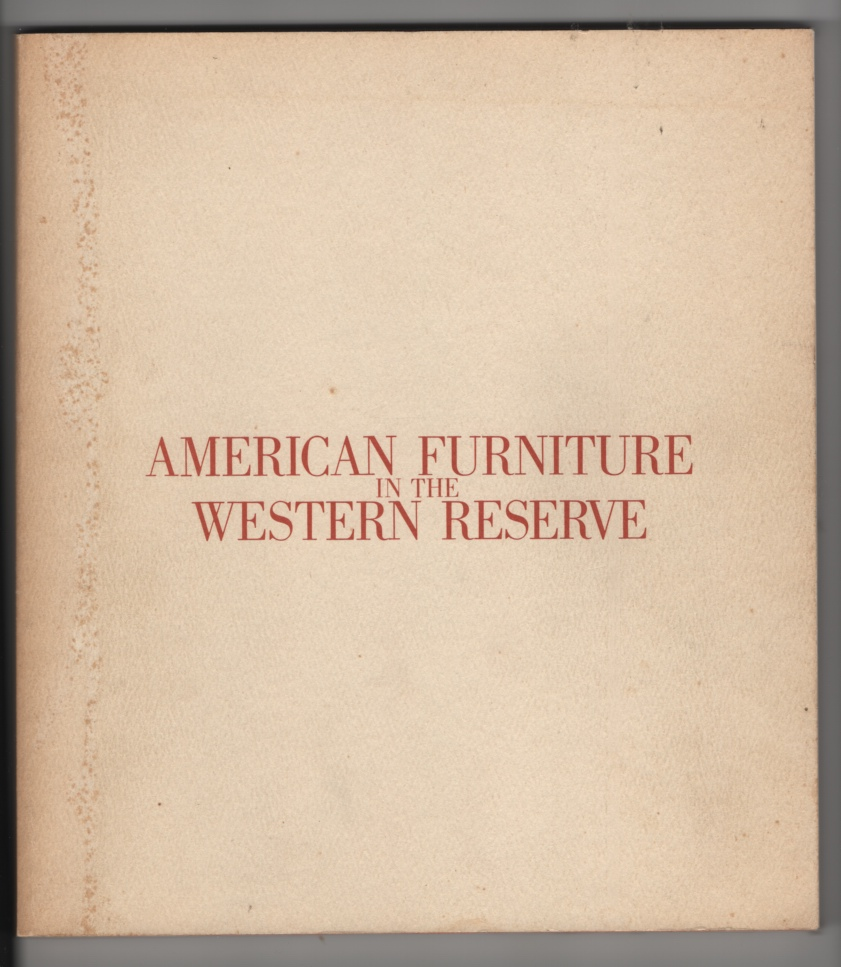 Image for American Furniture in the Western Reserve, 1680-1830