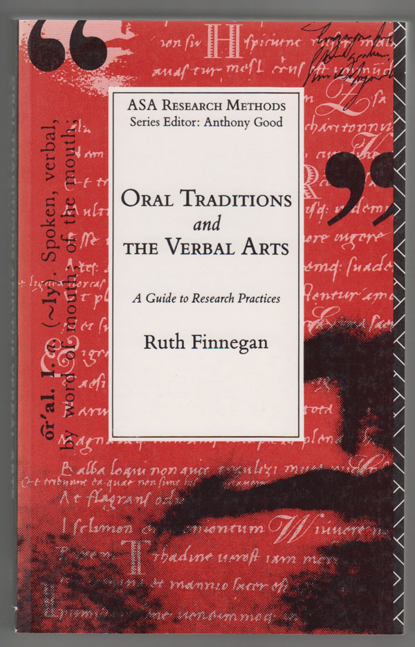 Image for Oral Traditions and the Verbal Arts: a Guide to Research Practices