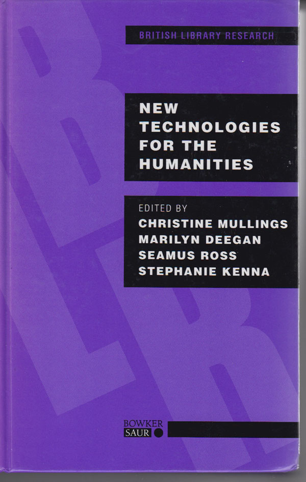 Image for New Technologies for the Humanities