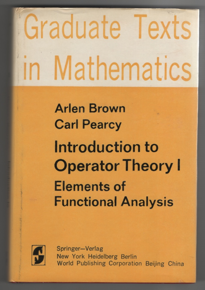 Image for Introduction to Operator Theory I. Elements of Functional Analysis