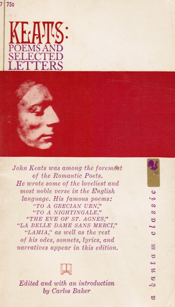 Image for Keats: Poems and Selected Letters