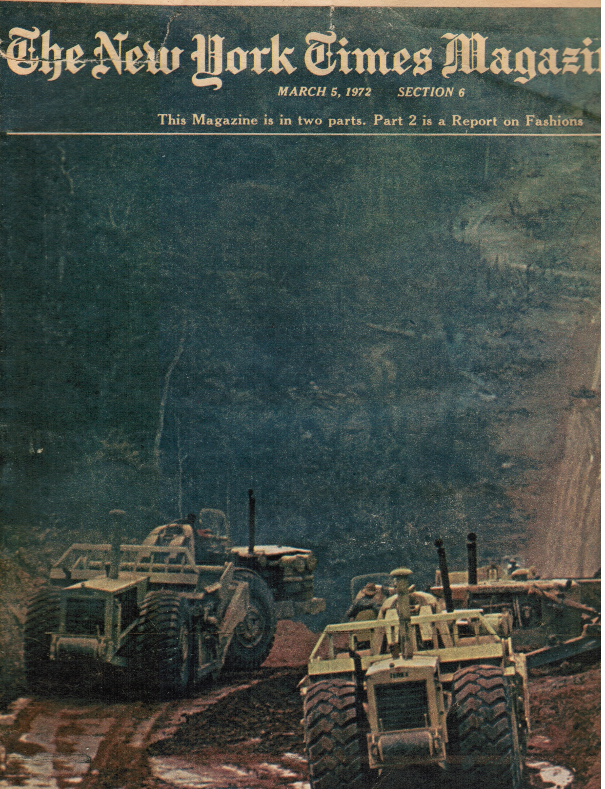 Image for 1972 - the New York Times Magazine: March 5, 1972 Amazon Jungle (Cover)