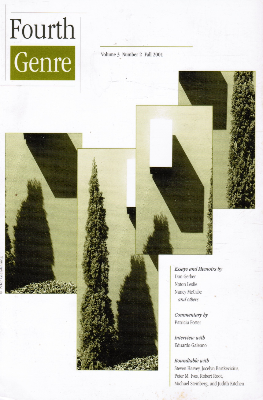 Image for Fourth Genre: Explorations in Nonfiction - Volume 3, Number 2, Fall 2001