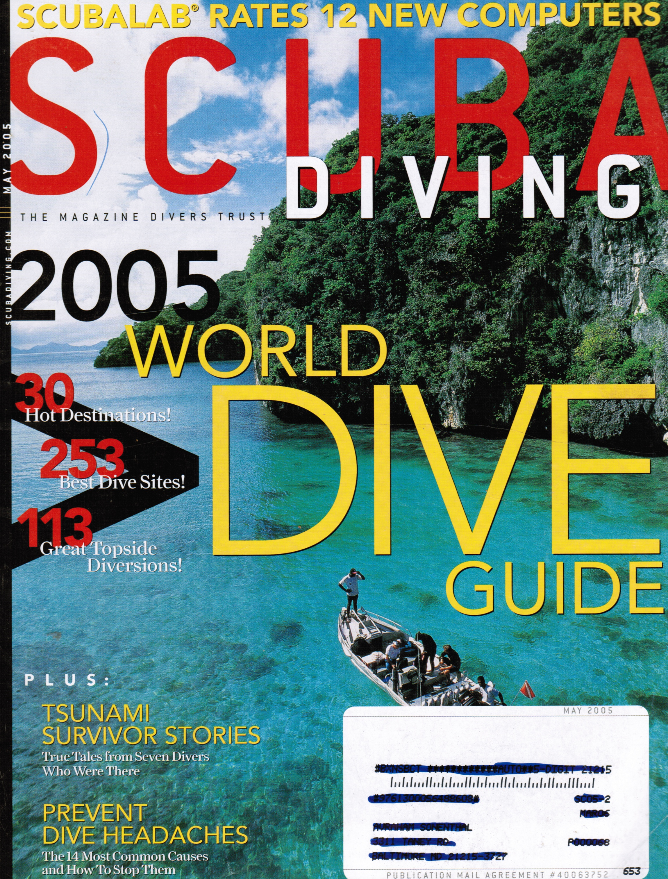 Image for Scuba Diving Magazine: May 2005 Feature: 2005 World Dive Guide