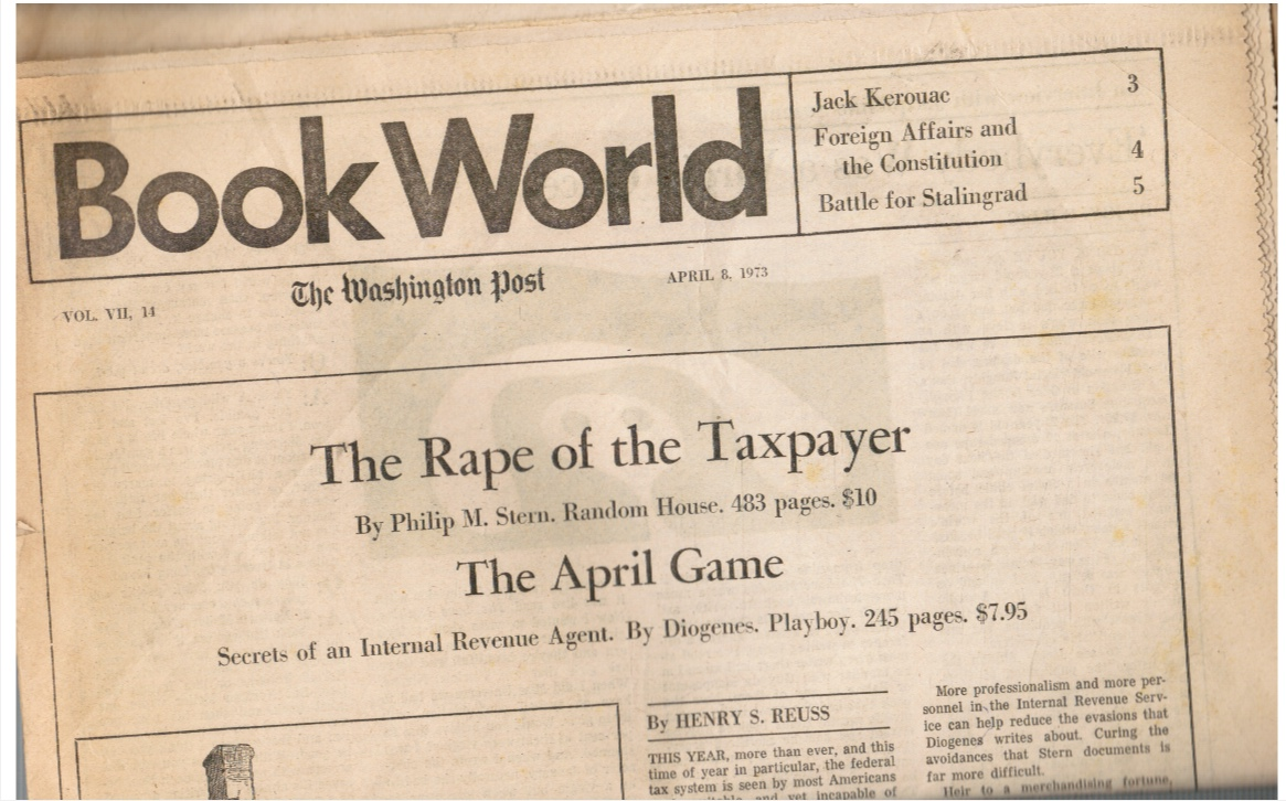 Image for 1973 - Book World: the Washington Post - April 8, 1973