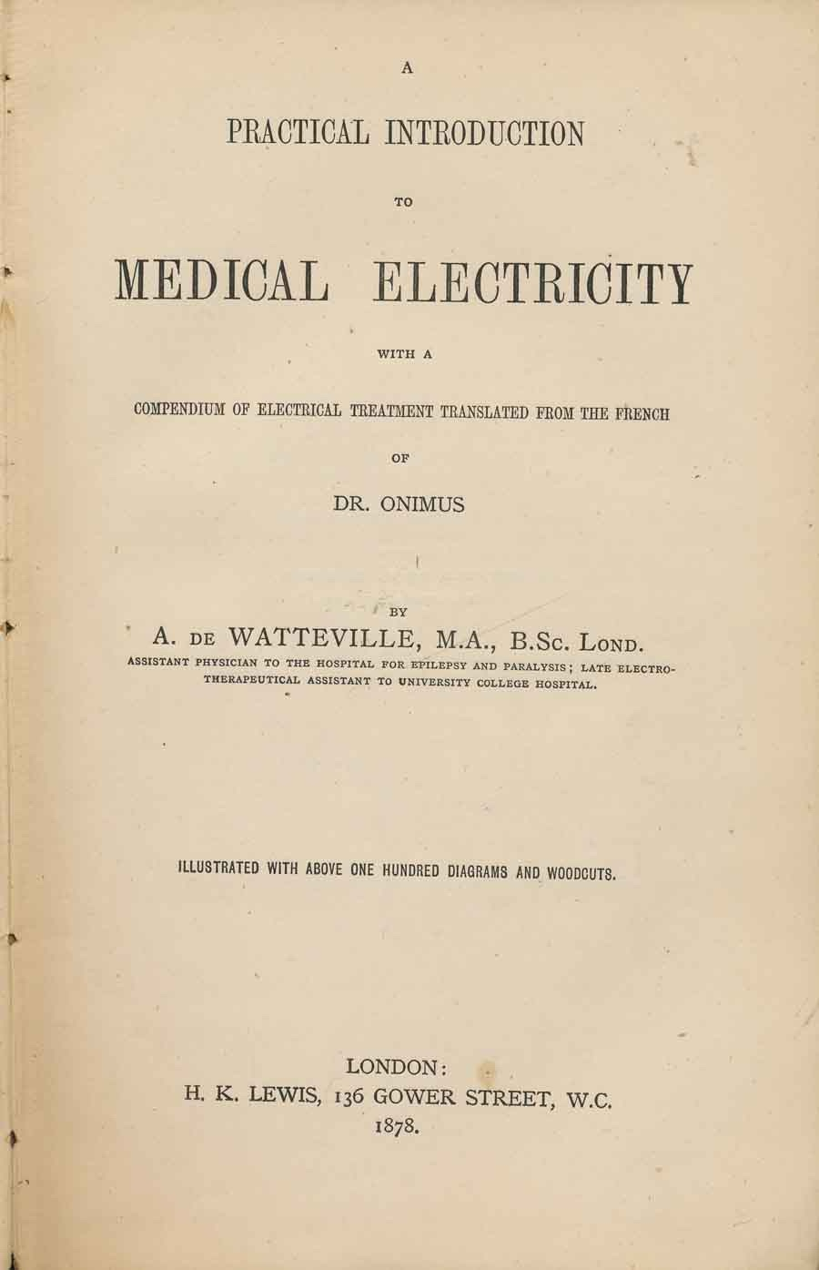 Image for A Practical Introduction to Medical Electricity