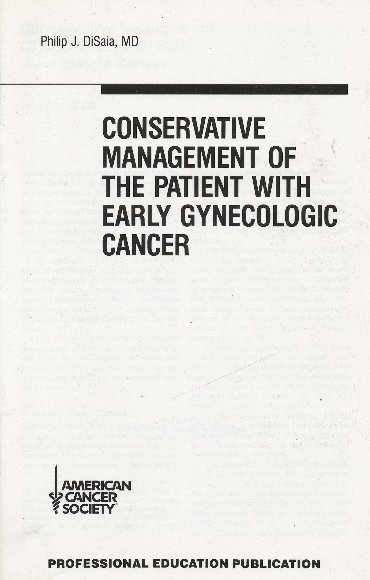 Image for Conservative Management of the Patient with Early Gynecologic Cancer