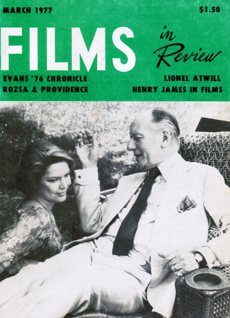 Image for Films in Review: March 1977 (Entebbe Review0 Ellen Burstyn and John Gielgud (Cover)