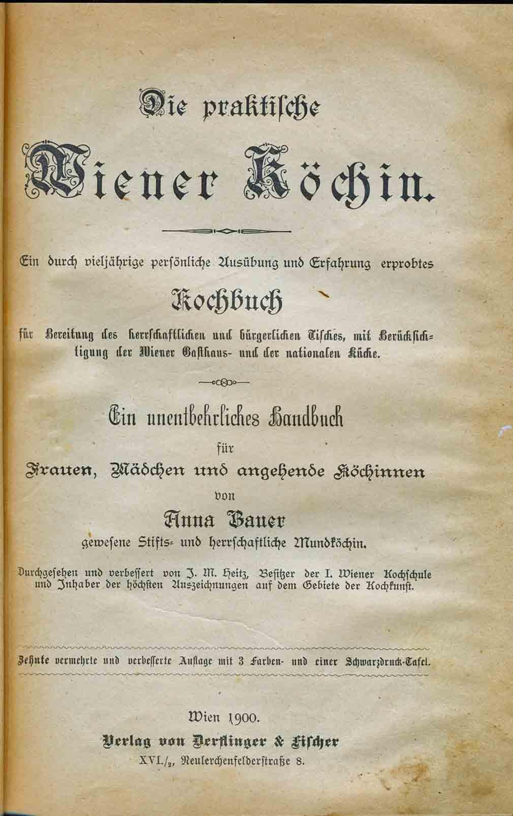 Image for Die Praktilche Wiener Kochin and Hausfrau