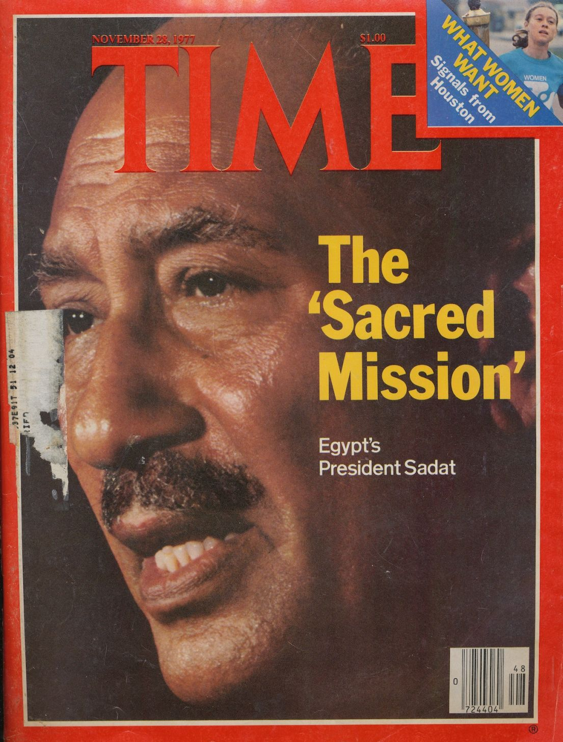 Image for Time Magazine November 28 1977: the Sacred Mission Egypt's President Sadat