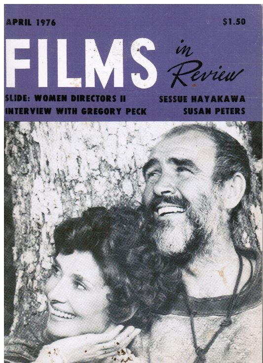 Image for Films in Review April, 1976 (Sean Connery, cover) Women Movie Directors