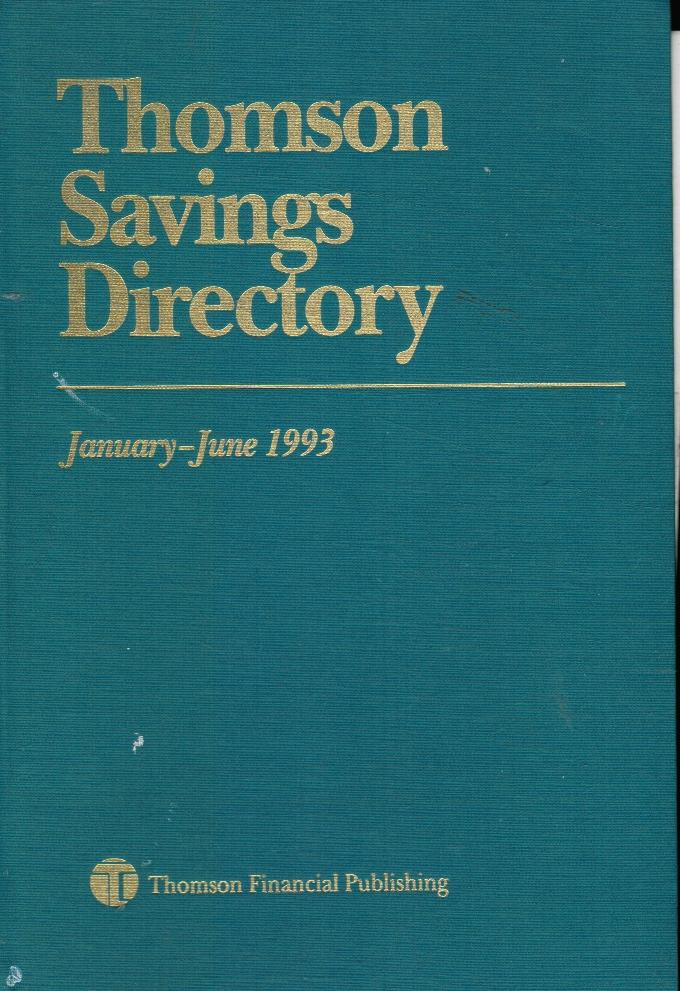Image for Thomson Savings Directory January - June 1993