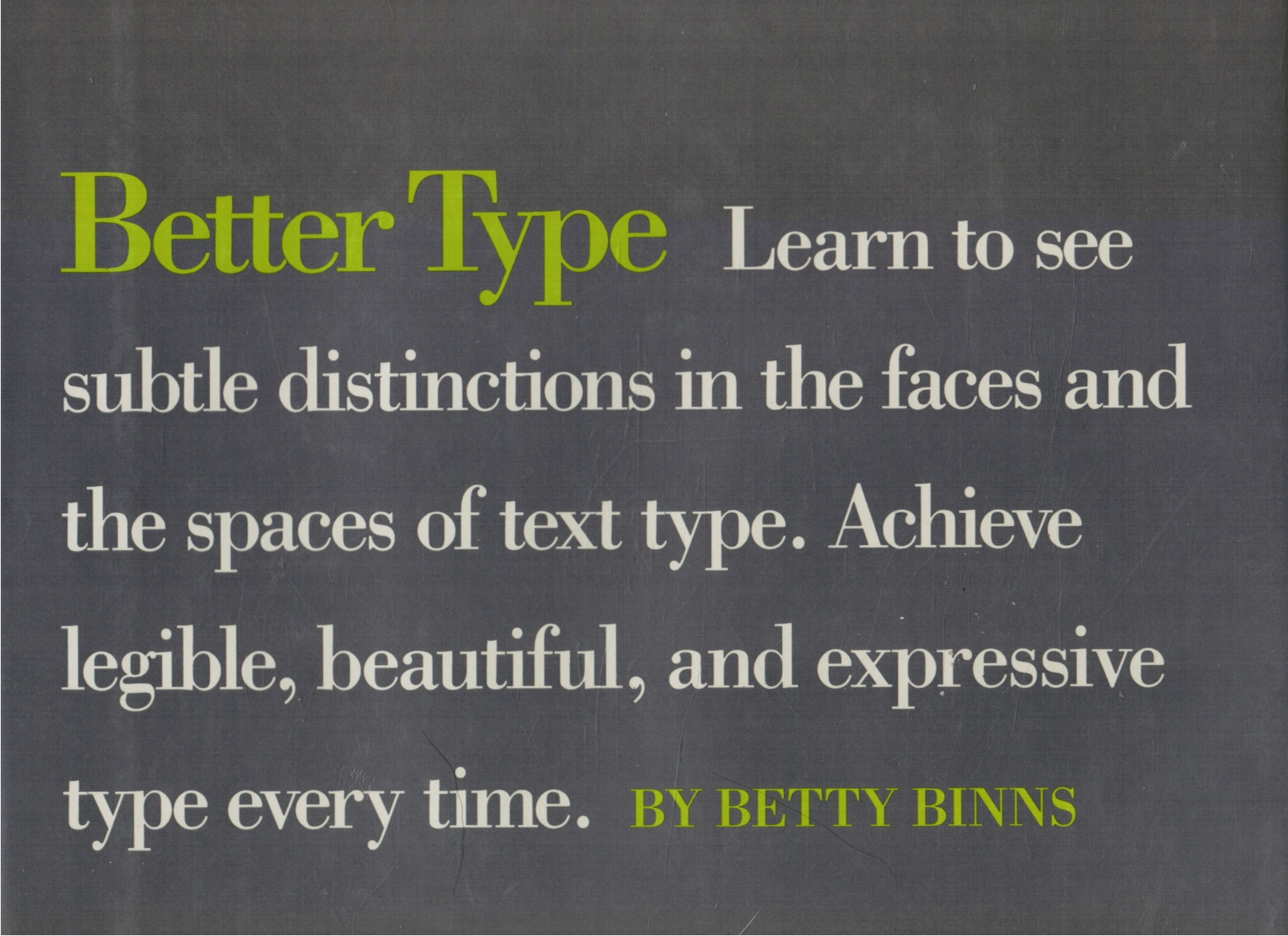 Image for Better Type