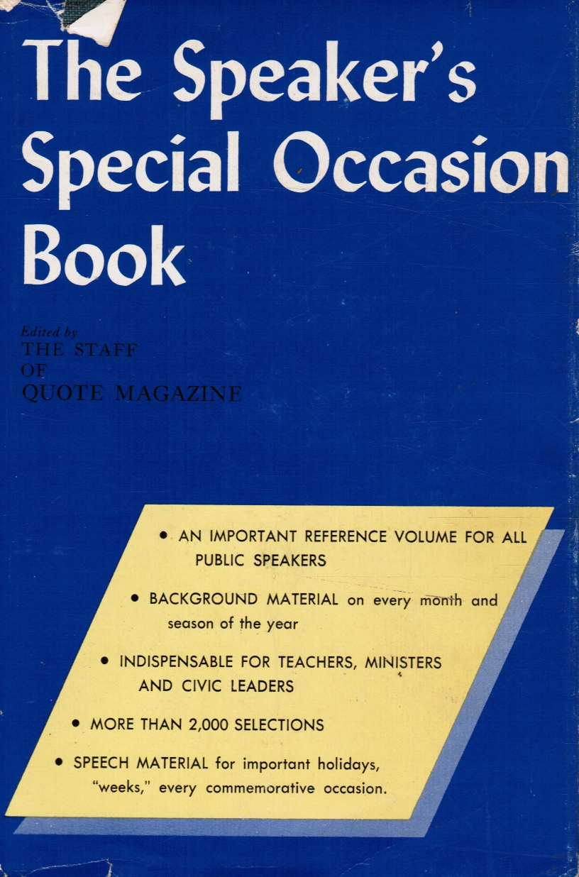 Image for The Speaker's Special Occasion Book