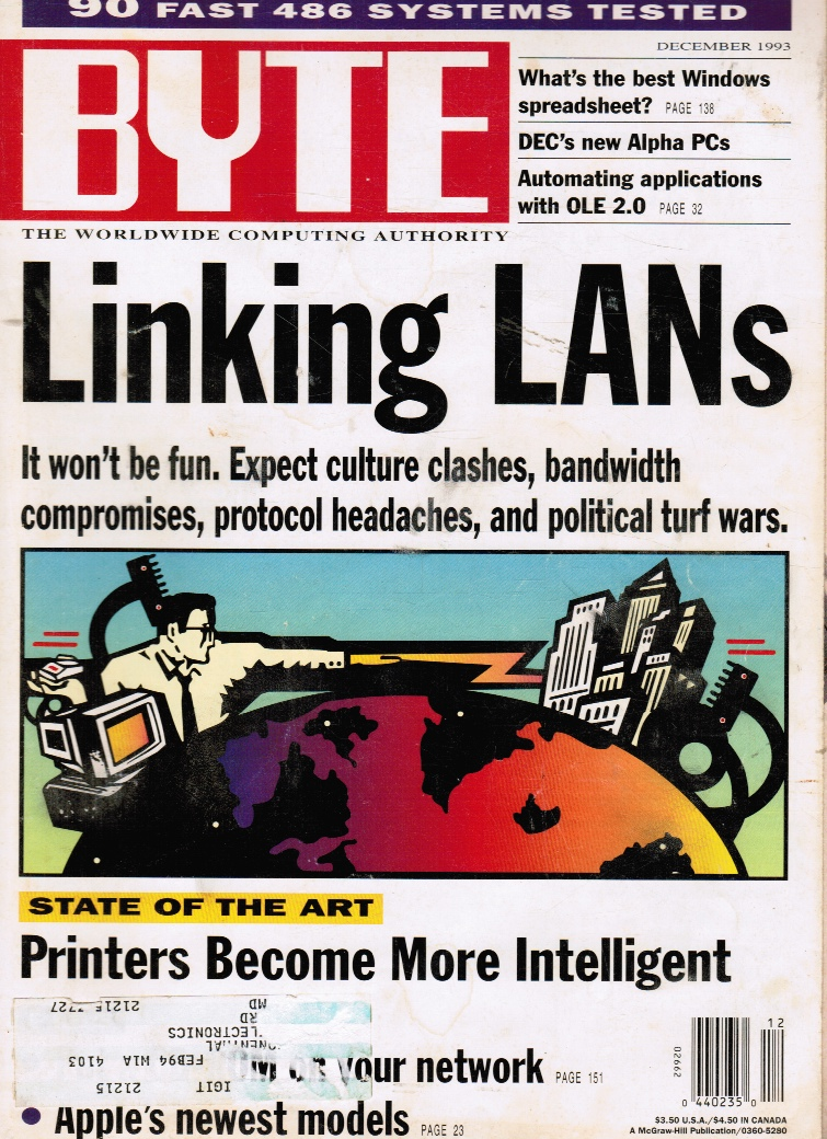 Image for BYTE Magazine: December 1993