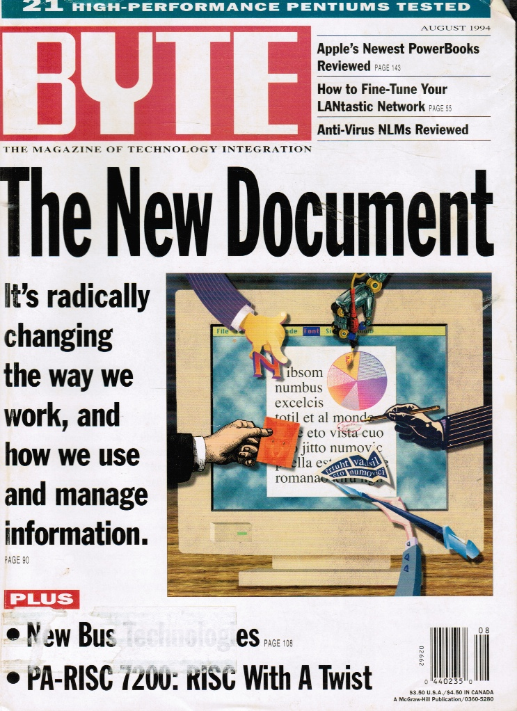 Image for BYTE Magazine: August 1994