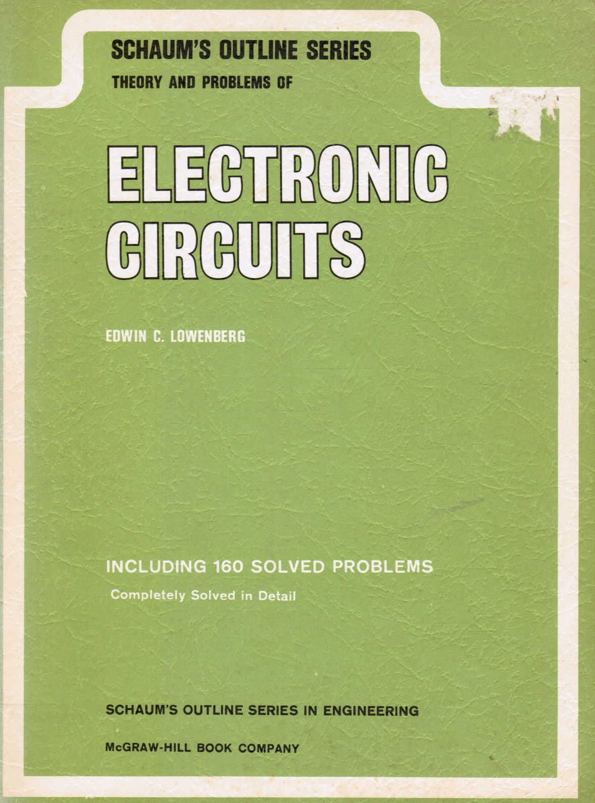 Image for Theory and Problems of Electronic Circuits