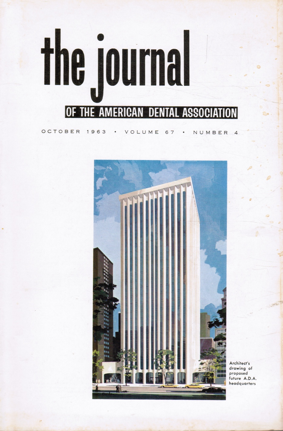 Image for The Journal of the American Dental Association: October 1963