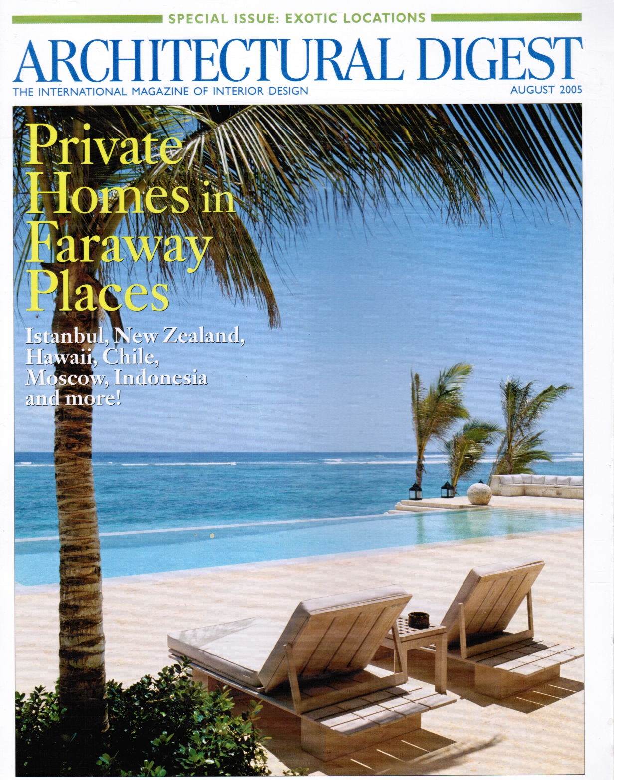 Image for Architectural Digest August 2005 Exotic Locations - Special Issue