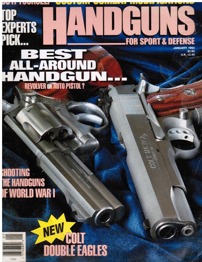 Image for Petersen's Handguns Magazine January 1992