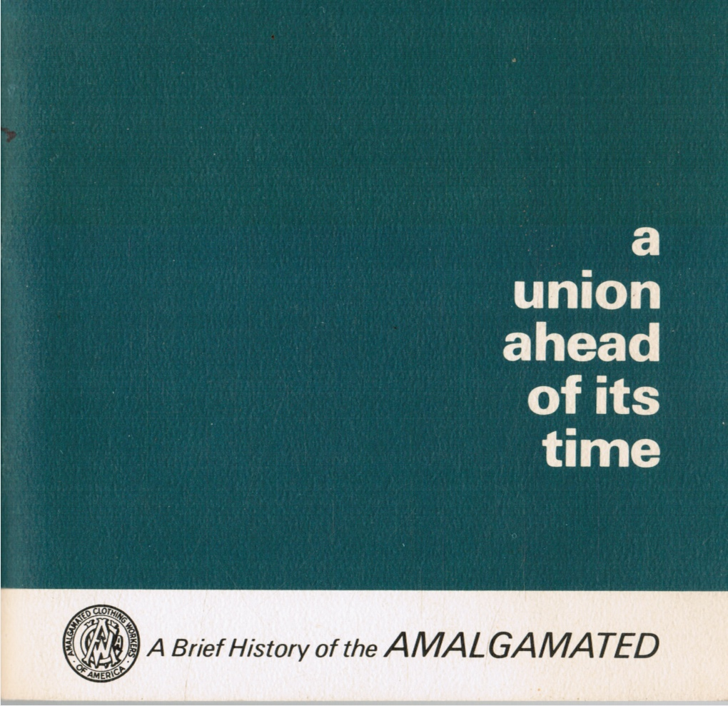 Image for A Union Ahead of its Time:  A Brief History of the Amalgated