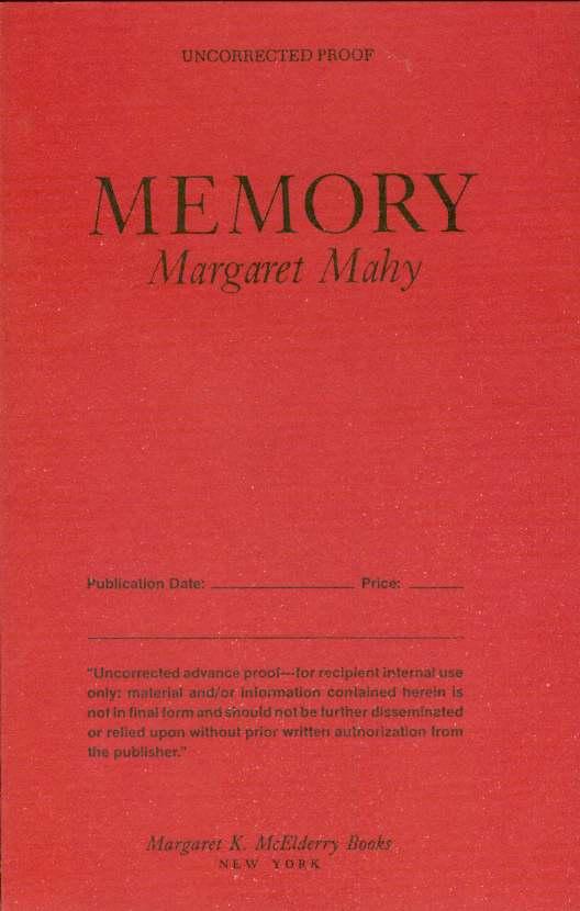 MEMORY, Mahy, Margaret