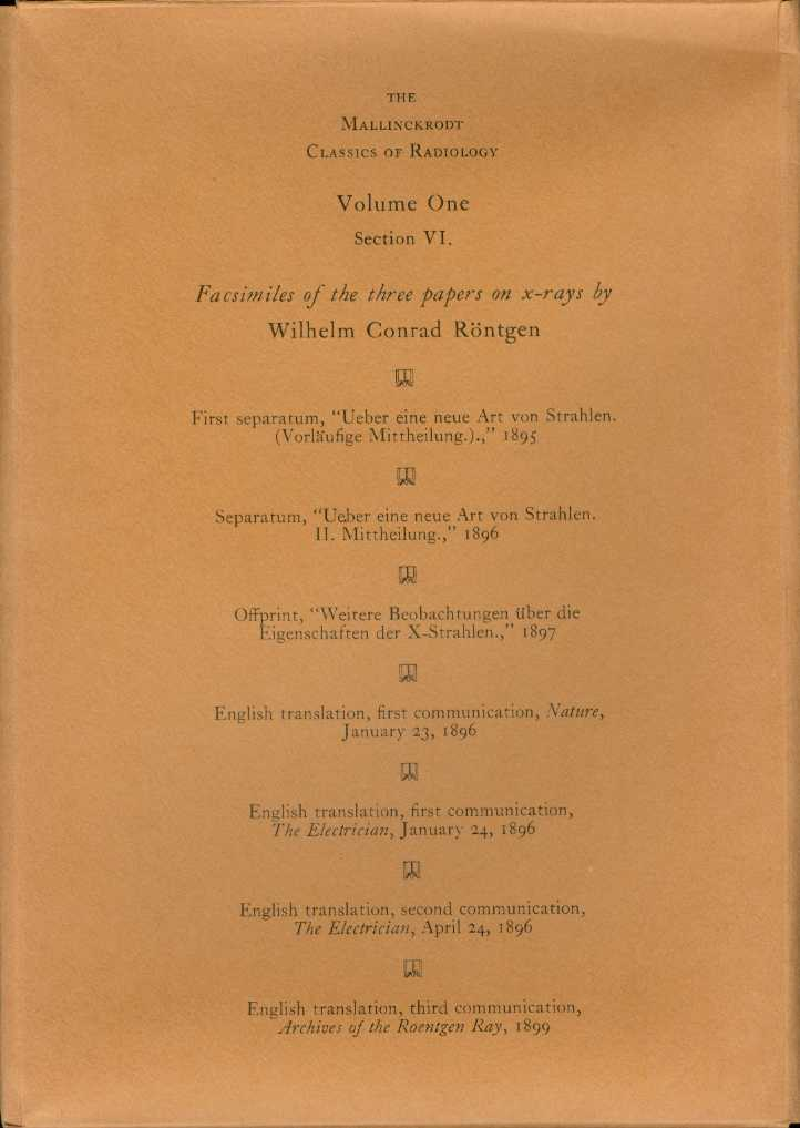 MALLINCKRODT CLASSICS OF RADIOLOGY Volume One, Section VI