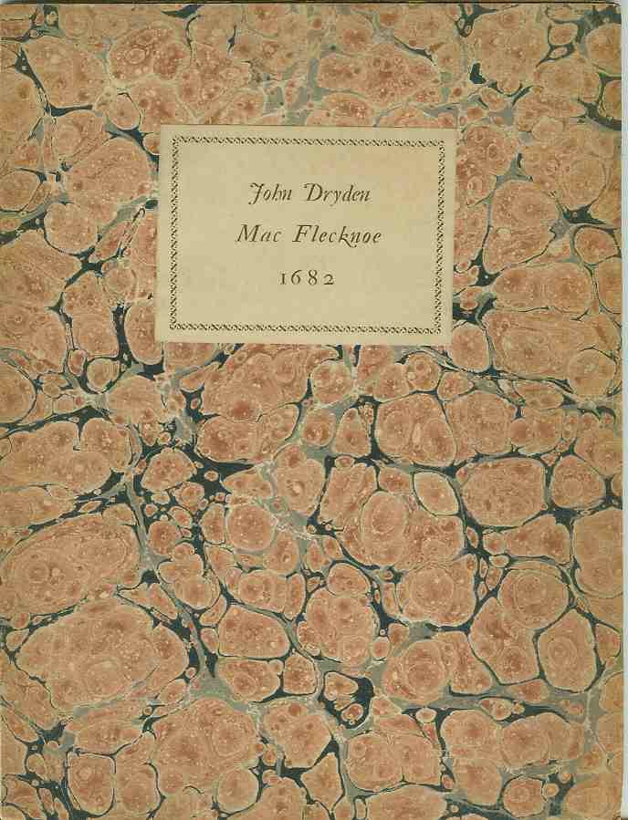 MAC FLECKNOE, 1682, Dryden, John