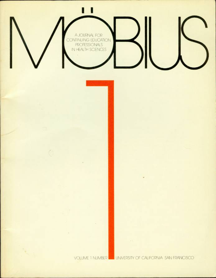 Image for MOBIUS A Journal for Continuing Education Professionals in Health Sciences Volume 1 Number 1
