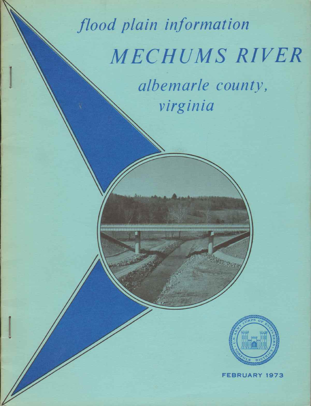 FLOOD PLAIN INFORMATION - MECHUMS RIVER Albemarle County and Charlottesville, Virginia, Army Corps Of Engineers