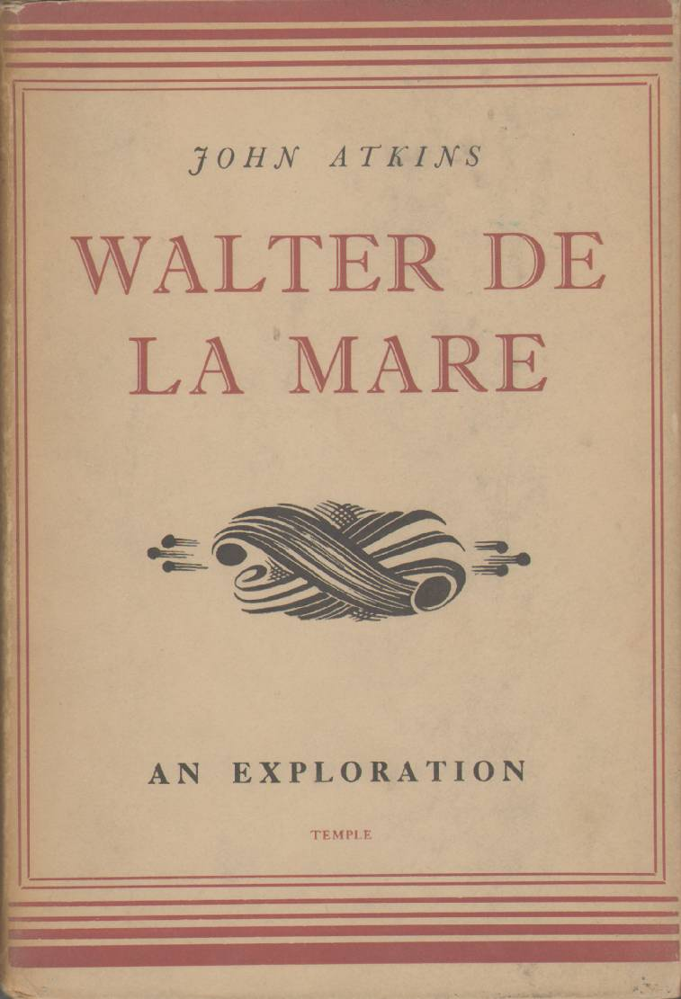 Image for WALTER DE LA MARE An Exploration