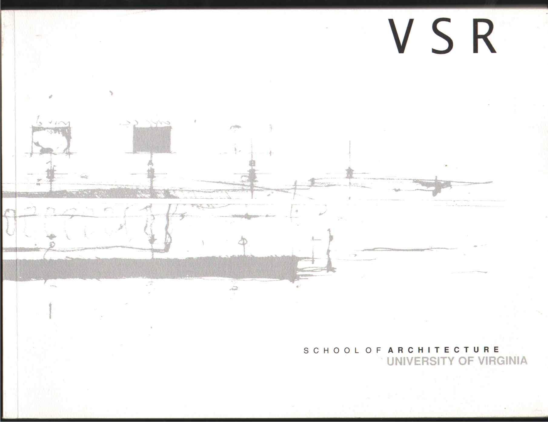 VIRGINIA STUDIO RECORD 1997-1998 Issue, School Of Architecture