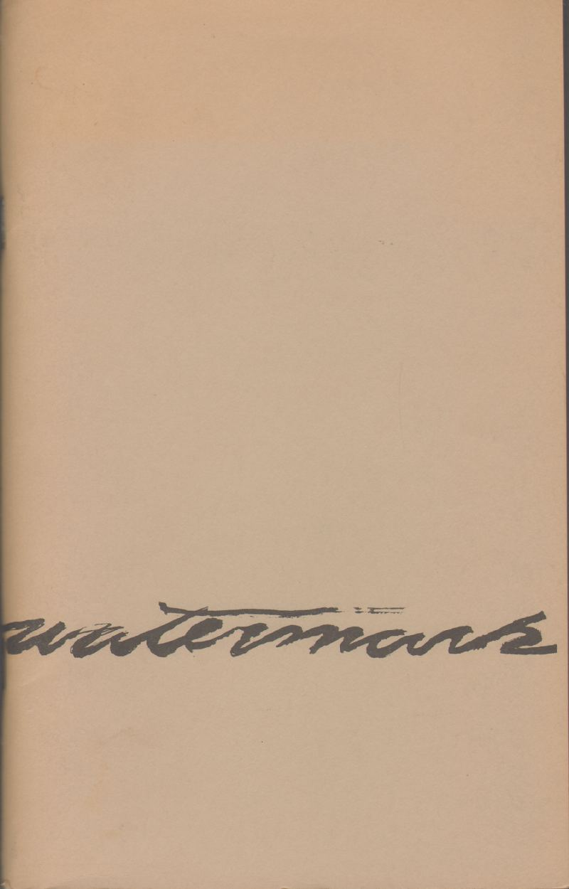 WATERMARK No. 1 Spring 1976, Boekesch, Robert and Others; edited by
