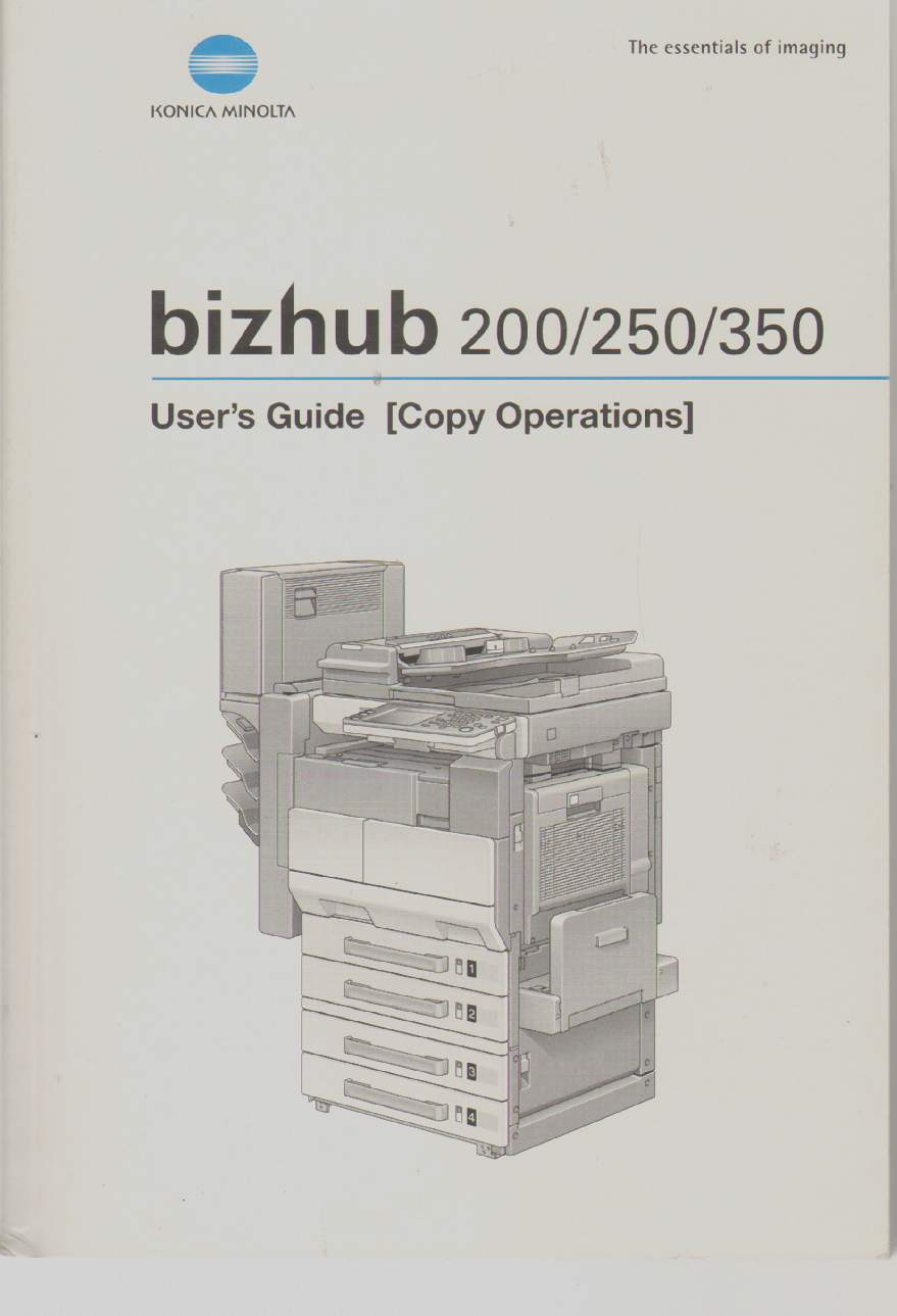 Image for BIZHUB 200/250/350 User's Guide [Copy Operations] 4040-7739-13 2006.3