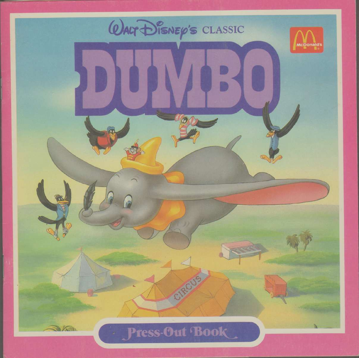 Image for WALT DISNEY'S CLASSIC DUMBO PRESS-OUT BOOK One in a Series from McDonald's